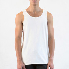 Men's relaxed singlet in natural