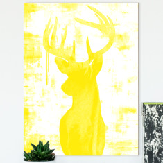 Endeering yellow ready to hang canvas art