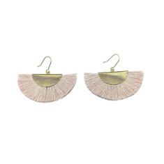Tassel earring in blush