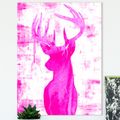 Endeering pink ready to hang canvas art