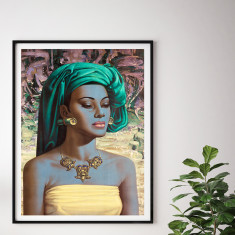 Balinese Girl by Tretchikoff Vintage Art Print