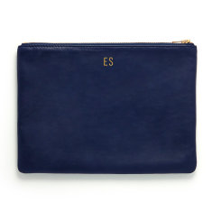 Monogram me leather pouch in navy