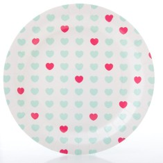Sweetheart paper party plates (2 packs)
