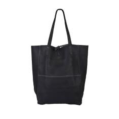 Monica Dark Grey leather shopper