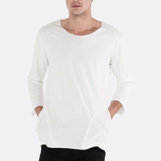 Men's 3/4 sleeve with side pockets natural