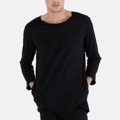 Men's 3/4 sleeve tee in black