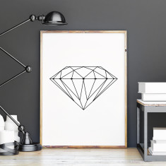 Diamond Scandi style art print