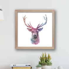 Watercolour Animal Framed Print