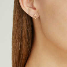 Palm tree studs 18k gold vermeil
