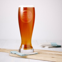 Engraved giant beer glass