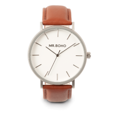 Mr Boho Metallic Classic Iron Leather Watch