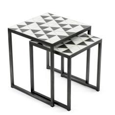 Mosaic Side Table Nesting Set – Polygon