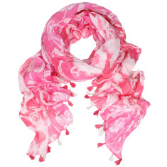 Bellini Cotton Printed Tassels scarf (various colours)