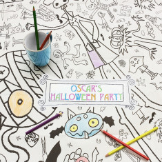 Personalised Halloween colour in tablecloth