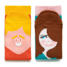 Brad feet & Kate Middle-toe socks (set of 2)