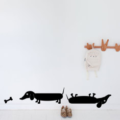 Sausage dogs wall decal