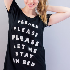 Please Let Me Stay In Bed Night Shirt