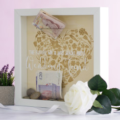 Personalised Wedding Fund Money Box Frame