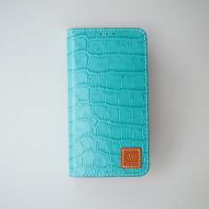 Croco leather iPhone 6/ 6+ case in Sky blue