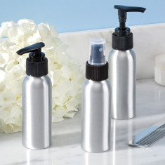 Interdesign Metro aluminium travel bottles set of 3