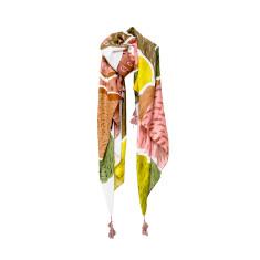 Tassel scarf dreams in pink