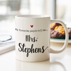 Personalised My favourite people call me... Mug