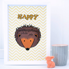 Childrens Hedgehog Chevron Print