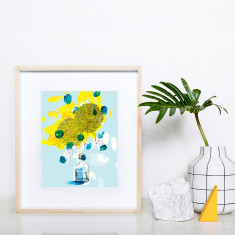 Favourite dahlia archival art print