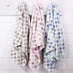 Bubble cotton knit reversible stroller blanket (various colours)