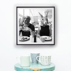 Breakfast was their best meal of the day photography print