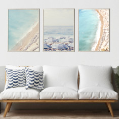 Beach photography print set - set of 3