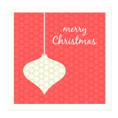 Retro merry Christmas bauble gift cards (set of 6)