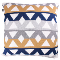 Pavilion cotton geometric cushion (various colours)
