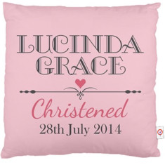 Personalised Christening cushion covers (various designs)