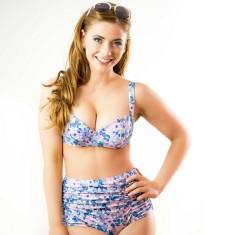 Eloise high waist bikini in vintage posey floral
