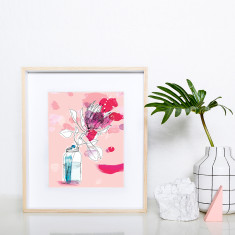 Favourite protea archival art print