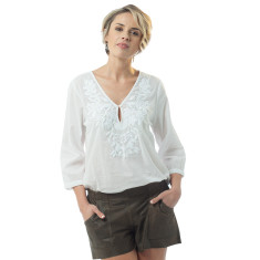 Louana top with white embroidery