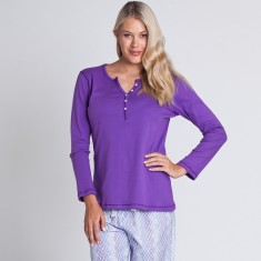 Leeton long pant set in purple