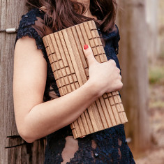 Genesis spotted gum dawn timber clutch