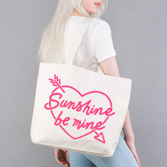 Sunshine Be Mine Beach Bag In Neon