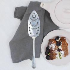 Personalised Silver Plated Vintage Cake Slice