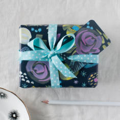 Modern Floral Wrapping Paper Set