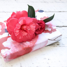 Rose stem wrapping paper pack (5 sheets)