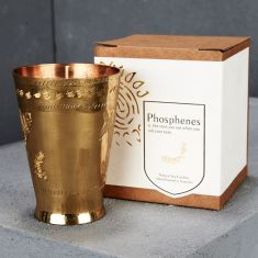 Handpoured Soy Candle in Handmade Brass Lassi Cup