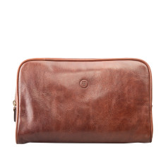 The Raffaelle Luxury Leather Wash Bag