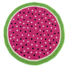 Watermelon felt ball rug