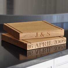 Personalised Square Chopping Board