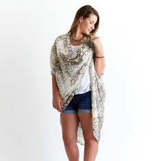 Kimocape kaftan in Cheetah (wear multiple ways)