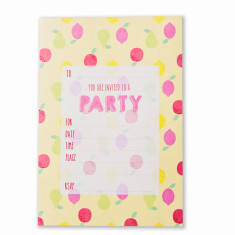Fruit themed party invitations (set of 10)