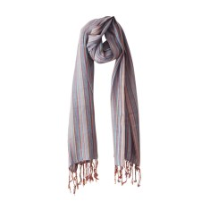Multi-striped scarf in seaspray